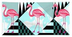 Ping Flamingo Beach Sheet by Mark Ashkenazi