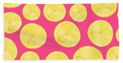 Pink Lemonade Beach Towel by Allyson Johnson