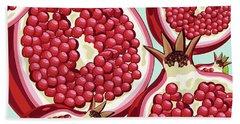 Pomegranate   Beach Towel by Mark Ashkenazi