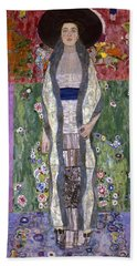 Portrait Of Adele Bloch-bauer II Beach Sheet by Gustav Klimt