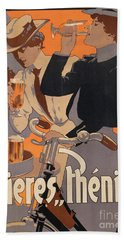 Poster Advertising Phenix Beer Beach Towel by Adolf Hohenstein