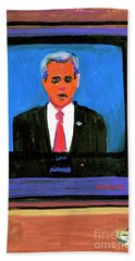 President George Bush Debate 2004 Beach Towel by Candace Lovely
