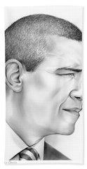 President Obama Beach Towel by Greg Joens