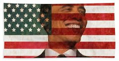 President Obama Hope Beach Sheet by Dan Sproul