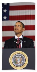 President Obama Beach Towel by War Is Hell Store