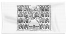 Presidents Of The United States 1776-1876 Beach Sheet by War Is Hell Store