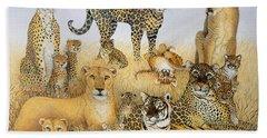 The Big Cats Beach Towel by Pat Scott