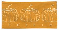 Pumpkins- Art By Linda Woods Beach Towel by Linda Woods