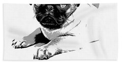 Puppy Love Beach Towel by Edward Fielding