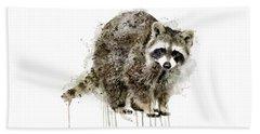Raccoon Beach Sheet by Marian Voicu