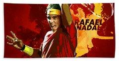 Rafael Nadal Beach Sheet by Semih Yurdabak
