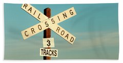 Railroad Crossing Beach Sheet by Todd Klassy