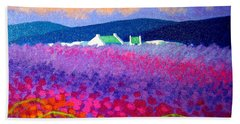 Rainbow Meadow Beach Sheet by John  Nolan
