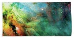 Rainbow Orion Nebula Beach Sheet by The  Vault - Jennifer Rondinelli Reilly