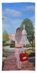 Razorback Swagger At Bentonville Square Beach Towel by Belinda Nagy