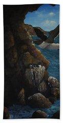 Razorbills Beach Towel by Eric Petrie