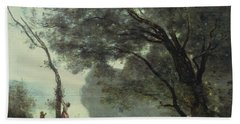 Recollections Of Mortefontaine Beach Sheet by Jean Baptiste Corot