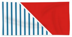 Red White And Blue Triangles 2 Beach Towel by Linda Woods