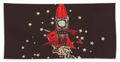 Retro Cosmic Adventure Beach Towel by Jorgo Photography - Wall Art Gallery