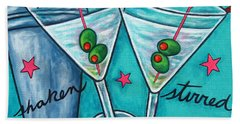 Retro Martini Beach Towel by Lisa  Lorenz