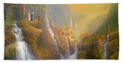 Rivendell Wisdom Of The Elves. Beach Sheet by Joe  Gilronan