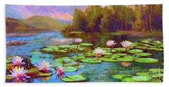 The Wonder Of Water Lilies Beach Sheet by Jane Small