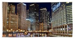 River View Of The Windy City Beach Sheet by Frozen in Time Fine Art Photography
