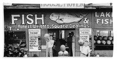 Roadside Stand Near Birmingham, Alabama Beach Sheet by Walker Evans