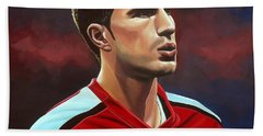 Robin Van Persie Beach Towel by Paul Meijering