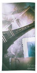 Romantic Paris Memory Beach Towel by Jorgo Photography - Wall Art Gallery