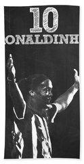 Ronaldinho Beach Sheet by Semih Yurdabak