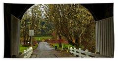 Rural Wren Oregon Beach Towel by Adam Jewell