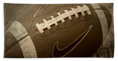 Rustic Football Beach Sheet by Amy Steeples