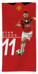 Ryan Giggs Beach Towel by Semih Yurdabak