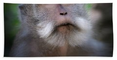 Sacred Monkey Forest Sanctuary Beach Towel by Larry Marshall
