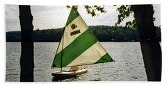 Sailing On Lake Dunmore No. 1 Beach Sheet by Sandy Taylor