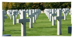 Beach Towel featuring the photograph Saint Mihiel American Cemetery by Travel Pics