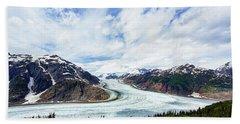 Salmon Glacier Beach Sheet by Heidi Brand