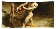 Samson's Youth Beach Towel by Leon Joseph Florentin Bonnat