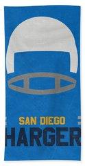 San Diego Chargers Vintage Art Beach Towel by Joe Hamilton
