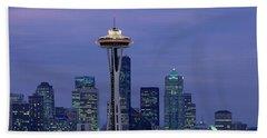 Seattle, Washington Skyline Beach Towel by Panoramic Images