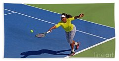 Serena Williams 1 Beach Towel by Nishanth Gopinathan