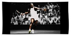 Serena Williams Defining Moment Beach Towel by Brian Reaves