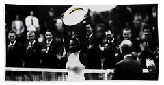 Serena Williams Eye On The Prize Beach Towel by Brian Reaves