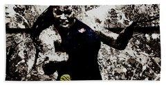 Serena Williams S4e Beach Towel by Brian Reaves