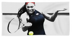 Serena Williams Stay Focused Beach Sheet by Brian Reaves