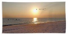Shackleford Banks Sunset Beach Sheet by Betsy Knapp