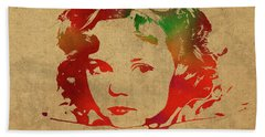 Shirley Temple Watercolor Portrait Beach Sheet by Design Turnpike