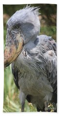 Shoebill Stork Beach Towel by Carol Groenen