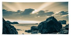Beach Towel featuring the photograph Silver Moment by Thierry Bouriat
